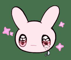 rabbits and girls / pink sticker #3938306
