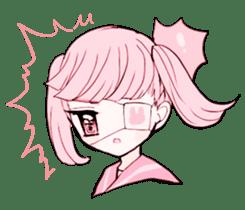 rabbits and girls / pink sticker #3938309