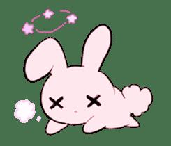 rabbits and girls / pink sticker #3938321