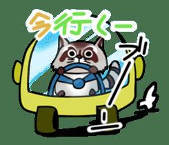 Cheerful raccoon sticker #3949572