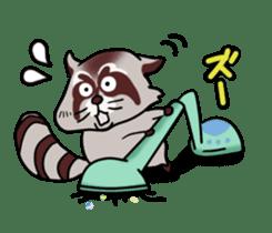 Cheerful raccoon sticker #3949580