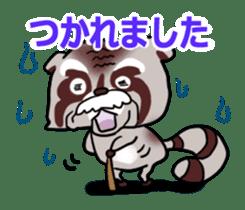 Cheerful raccoon sticker #3949582
