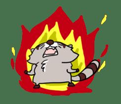 Cheerful raccoon sticker #3949595