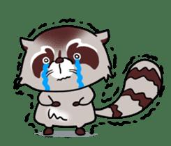 Cheerful raccoon sticker #3949596