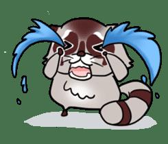 Cheerful raccoon sticker #3949597