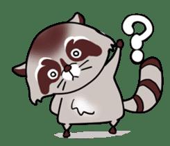 Cheerful raccoon sticker #3949598