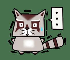 Cheerful raccoon sticker #3949606
