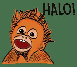 Baby Orangutan (Indonesian) sticker #3950887