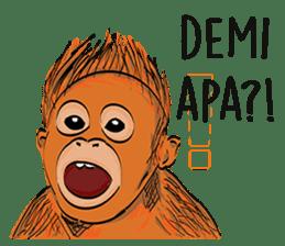 Baby Orangutan (Indonesian) sticker #3950890