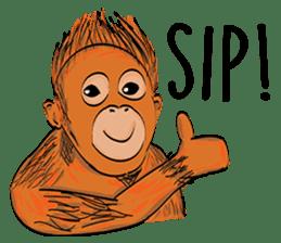 Baby Orangutan (Indonesian) sticker #3950893