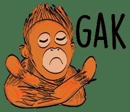 Baby Orangutan (Indonesian) sticker #3950894