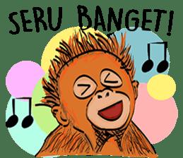 Baby Orangutan (Indonesian) sticker #3950896