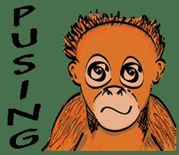 Baby Orangutan (Indonesian) sticker #3950899