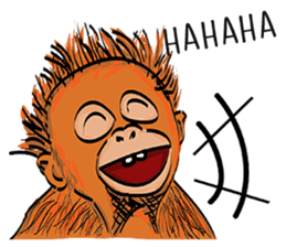 Baby Orangutan (Indonesian) sticker #3950900