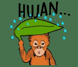 Baby Orangutan (Indonesian) sticker #3950905