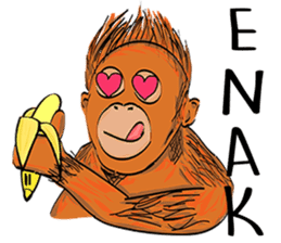 Baby Orangutan (Indonesian) sticker #3950908