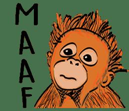 Baby Orangutan (Indonesian) sticker #3950911