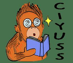 Baby Orangutan (Indonesian) sticker #3950919