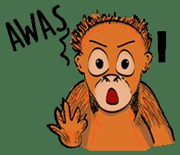 Baby Orangutan (Indonesian) sticker #3950925
