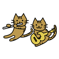 Sibling Unit NEKO CAFE stamp
