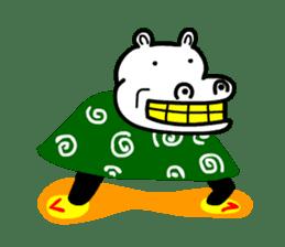 Kaba Hippo Boy sticker #3968607