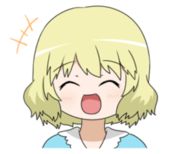 Blonde girl Kotoha sticker #3972863