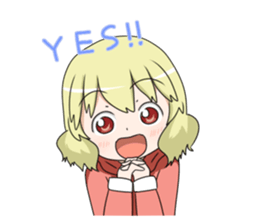 Blonde girl Kotoha sticker #3972868