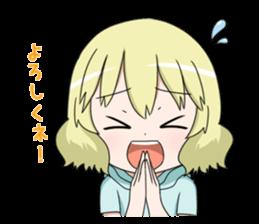 Blonde girl Kotoha sticker #3972871