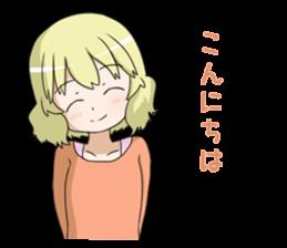 Blonde girl Kotoha sticker #3972879