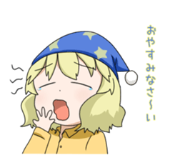 Blonde girl Kotoha sticker #3972880