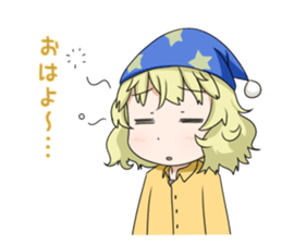Blonde girl Kotoha sticker #3972881