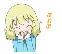 Blonde girl Kotoha sticker #3972896