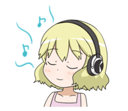 Blonde girl Kotoha sticker #3972900