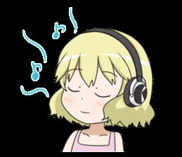 Blonde girl Kotoha sticker #3972900