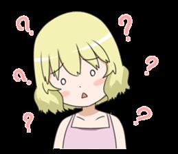 Blonde girl Kotoha sticker #3972901
