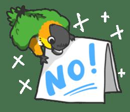 Pionites leucogaster&Black-headed Caique sticker #3978571