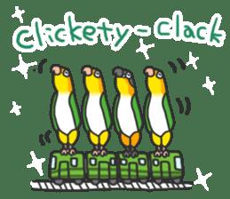 Pionites leucogaster&Black-headed Caique sticker #3978593