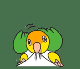 Pionites leucogaster&Black-headed Caique sticker #3978595