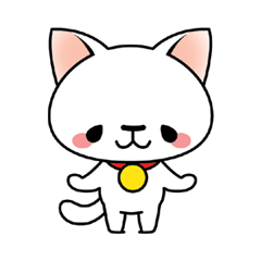 Tama the White Cat