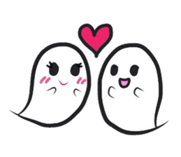 Small Cute Ghost sticker #3989503