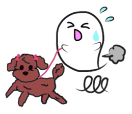 Small Cute Ghost sticker #3989510