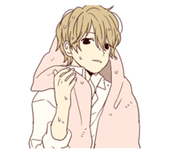 Warm fuzzy series (high school boys) sticker #3990840