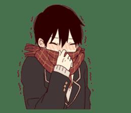Warm fuzzy series (high school boys) sticker #3990845