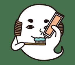 Bald Ghost sticker #4008073
