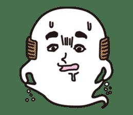 Bald Ghost sticker #4008085