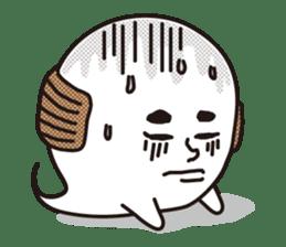 Bald Ghost sticker #4008091
