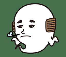 Bald Ghost sticker #4008104