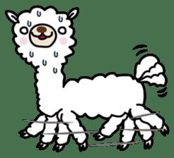 Three alpacas sticker sticker #4009712