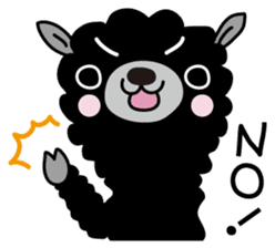 Three alpacas sticker sticker #4009713
