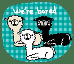 Three alpacas sticker sticker #4009715